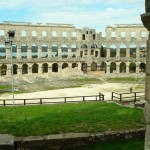Pula Arena view on Bay
