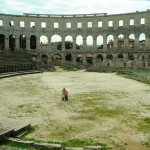 Pula arena almost empty