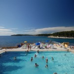 Pool splendid resort in Pula